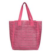 bag,purse,beach,pink,shoulder bag,beach bag,tote bag,laser cut