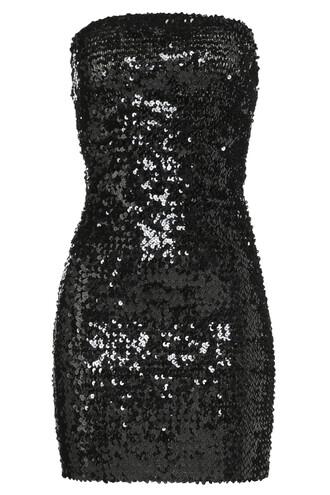 dress sequin dress strapless black