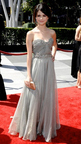 selena gomez bustier dress grey dress chiffon dress