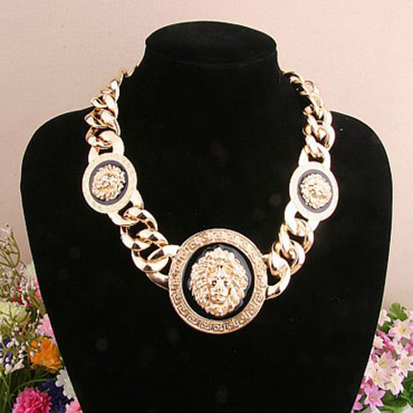 Triple Lion Head Necklace-Fashion Passionates