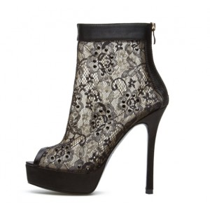 black ankle boots 4 inch heel