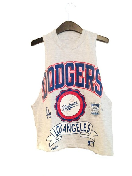 shirt dodgers l.a. muscle tank top sway