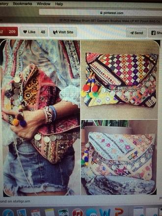 bag clutch boho vintage style