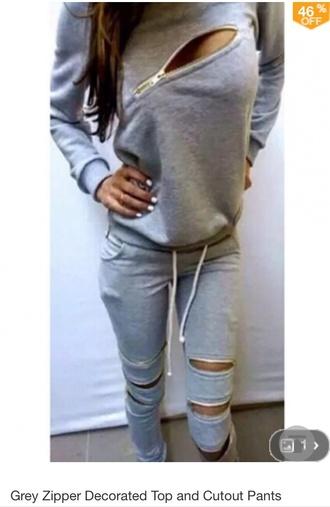 jumpsuit gray