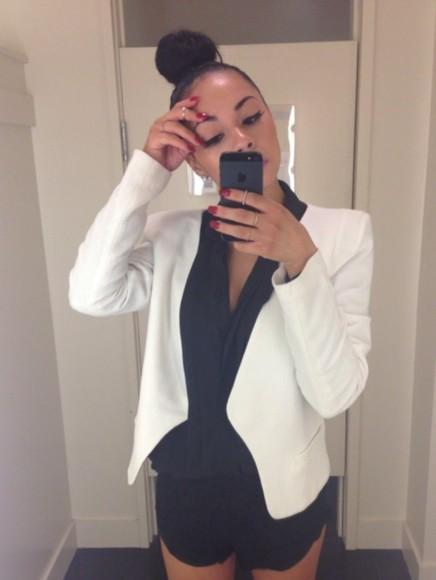 jacket blazer white blazer