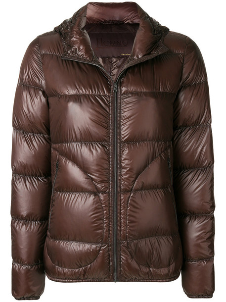 Herno jacket puffer jacket women brown