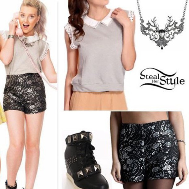 shirt perrie edwards jewels shorts