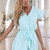 Green Jump Suits/Rompers - Mint V-Neck Playsuit with Waist | UsTrendy