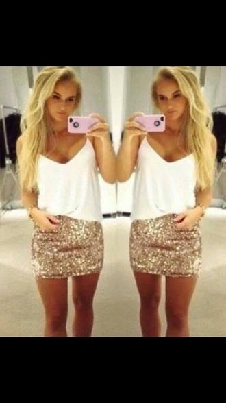 skirt gold sexy dresses glitter dress lovely beautiful