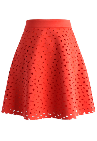 skirt floral cutout a-line skirt chicwish cutout skirt a-line skirt floral skirt