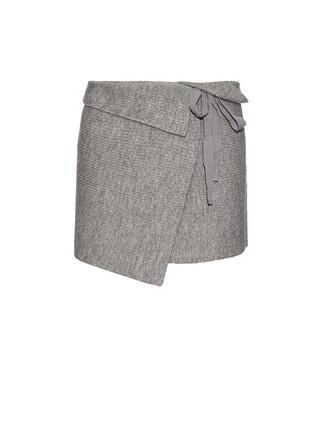 skirt mini skirt mini knit light grey