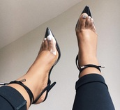 shoes,tie front,clear,heel,sexy,black,ankle strap,ankle strap heels,see through,patent leather,women,sexy shoes,heels,transparent,love,kicks,chic,ineedinmylif3