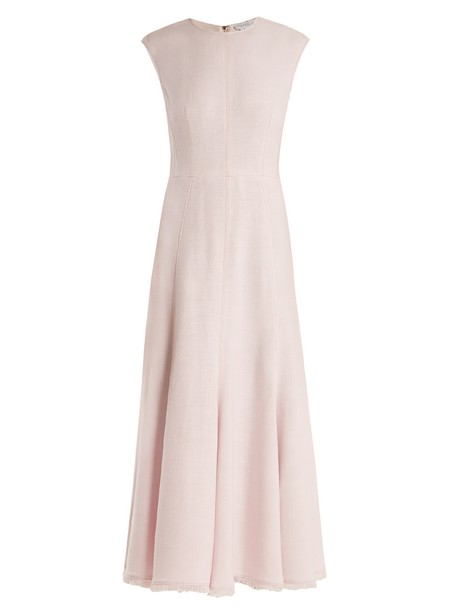 dress midi dress sleeveless midi light pink light pink