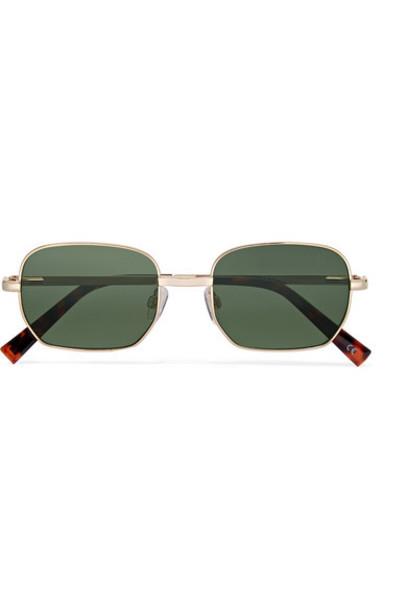 Le Specs - The Flash Square-frame Gold-tone Sunglasses