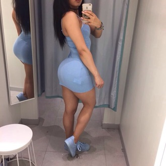dress blue mini dress pale blue bodycon dress short short dress sky blue adidas spaghetti straps dress spaghetti strap