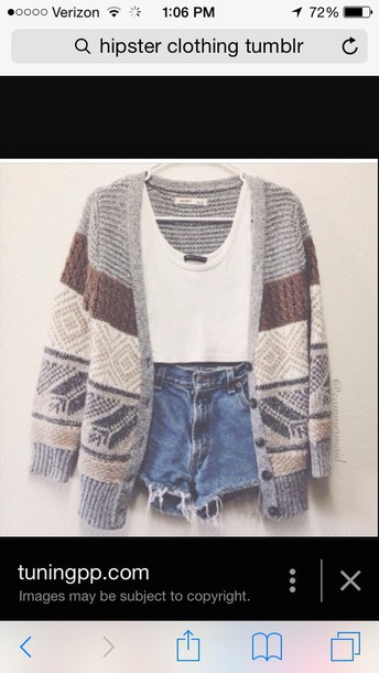 cardigan shirt shorts