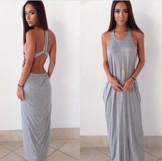 dress maxi dress long dress summer dress grey dress
