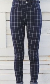 jeans,checkered,grunge,shoes,pants,square,squares,check,pattern,print,blue,navy,black,goth,90s style,retro,vintage,cute,cool,teenagers,skinny,skin tight,skin,tight,spring,fall outfits,grid,high waisted,navey,checkered pants,found on pintrest
