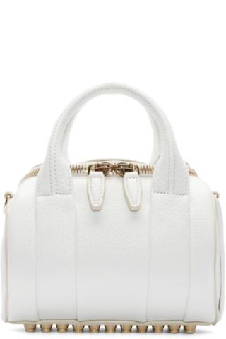 Alexander Wang - White Mini Rockie Duffle Bag