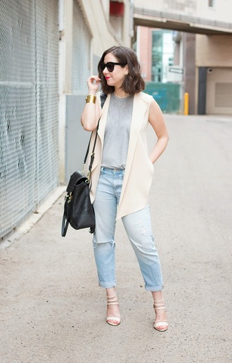 adventures in fashion blogger jeans sleeveless
