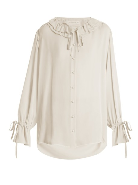 ETRO blouse silk white top