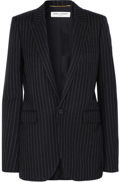 Saint Laurent blazer black wool jacket