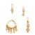 Luv Aj The Evil Eye Hoop Huggie Earring Set - Antique Gold