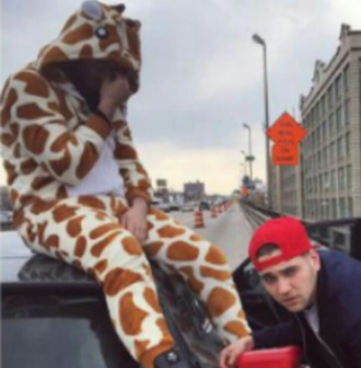 jumpsuit onesie giraffe animal romper slut whisperer shirt graphic