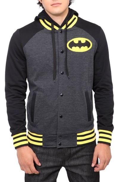 sweater batman sweater varsity jacket