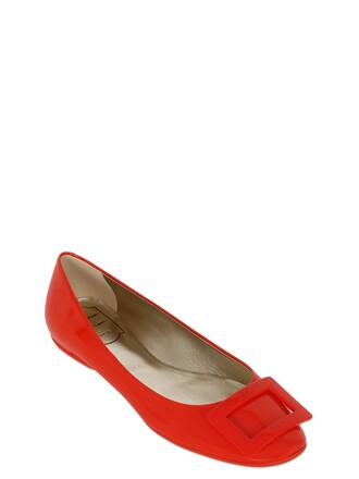 leather orange shoes
