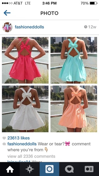 dress all colors cris cross bow in back