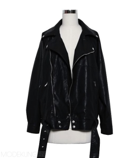 Leather jacket - In The Band - Leather jackets - Jackets & Outerwear - Women - Modekungen - Fashion Online | Clothing, Shoes & Accessories