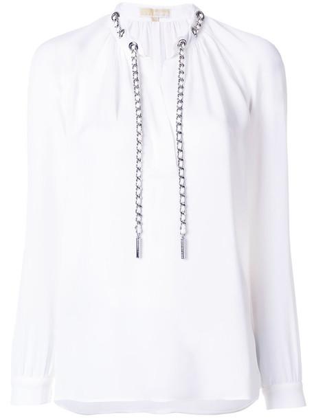 MICHAEL Michael Kors blouse women white silk top