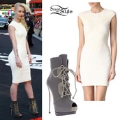 shoes,high heels boots,grey,classy,high heels,want these boots,iggy azalea,dress,shoes !,white dress,grey heels