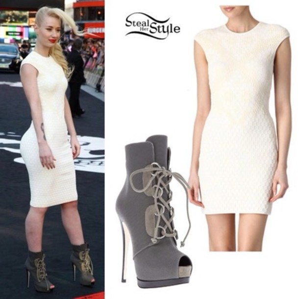 heels-want boots-iggy azalea-dress-shoes-white dress-gray heels jpgIggy Azalea Heels