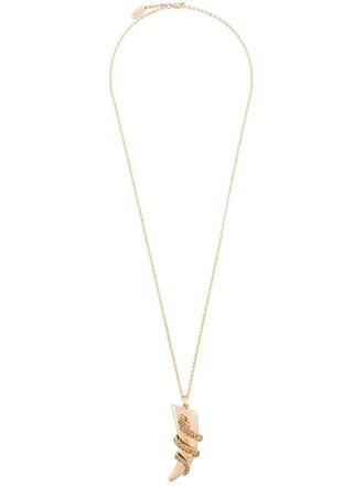 snake necklace pendant metallic jewels