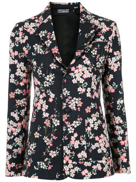 blazer printed blazer women cotton black jacket