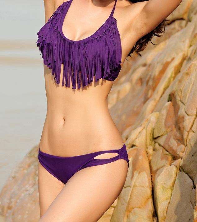 Costume de Baie Franjuri Diana Purple-4046P » Costume de Baie Costume de baie » Costume de Baie