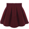 Red high waist pleated flare skirt - sheinside.com