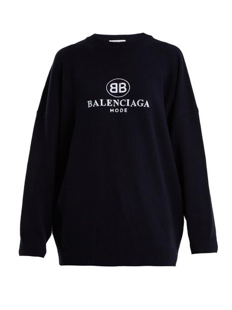 Balenciaga sweatshirt navy sweater