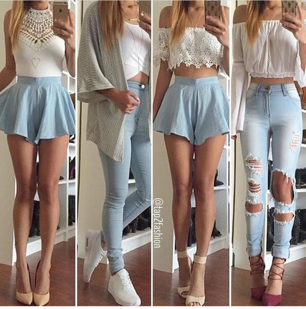 Jeans skinny jeans ripped jeans high waisted jeans blue jeans light blue jeans pants ...