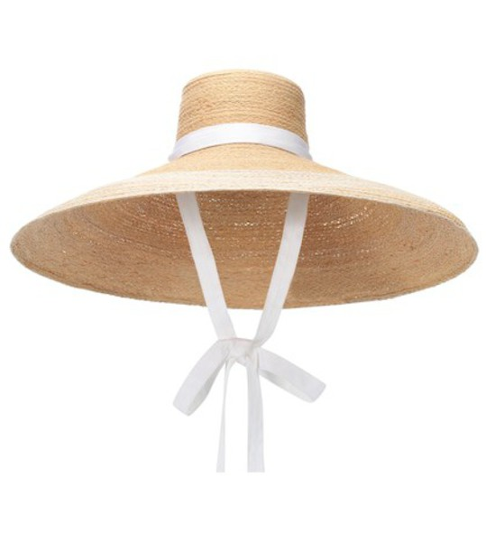 Lola Hats Nomad raffia hat in beige / beige