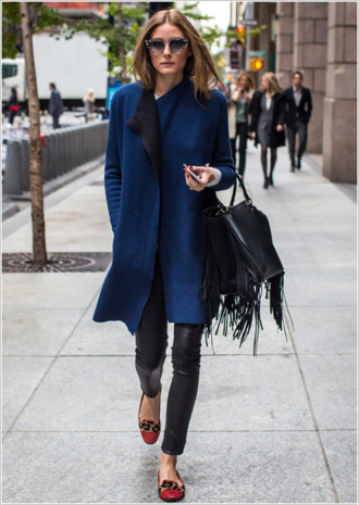coat fall outfits olivia palermo bag