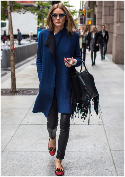 olivia palermo fall outfits bag coat