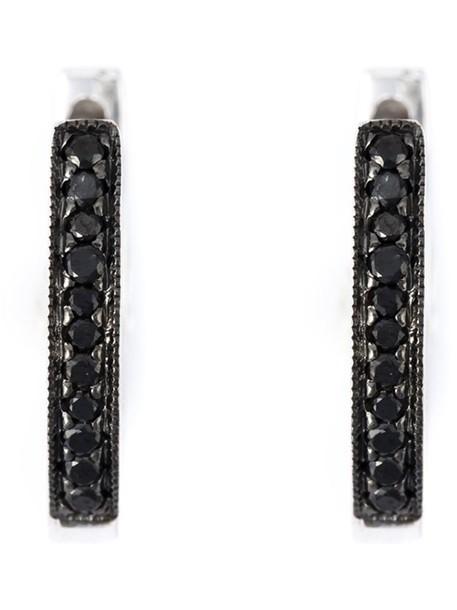 Wouters & Hendrix Gold women earrings hoop earrings gold black grey metallic jewels