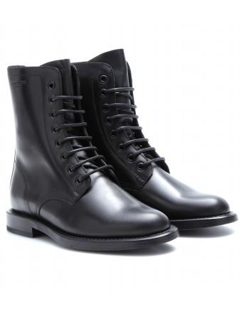 mytheresa.com - Rangers leather boots - shoes - Saint Laurent - designers - Luxury