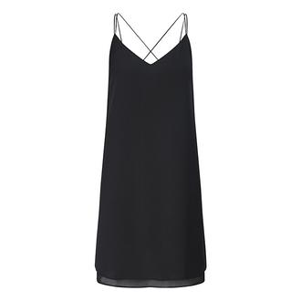 dress slip dress black dress criss cross back
