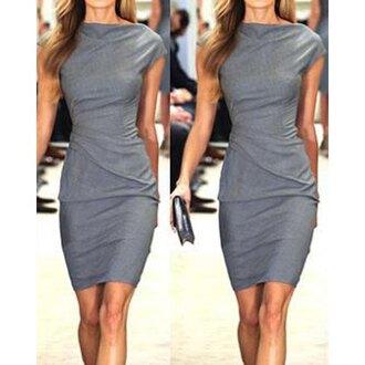 dress gray grey grey dress