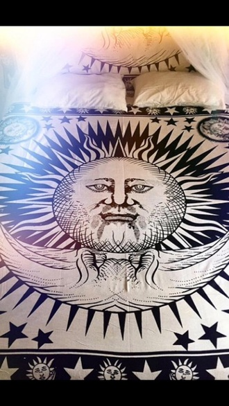 home accessory bedding cover boho ring moon moon and sun wall tapestry hippie sun and moon tapestries mandala