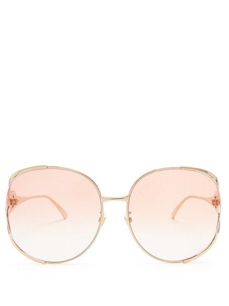 gucci oversized sunglasses light pink light pink
